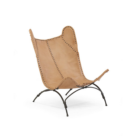 New Safari Camp Chair   Sunbleached Leather   Chairs / Ottomans   Furniture    Products   Ralph Lauren Home   RalphLaurenHome.com