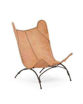 New Safari Camp Chair - Sunbleached Leather