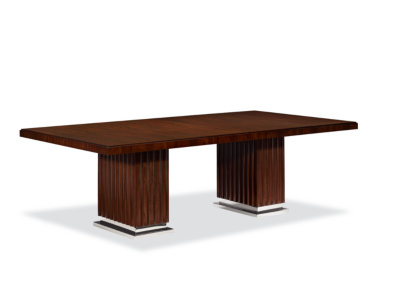 Duke Pedestal Dining Table - Penthouse Rosewood