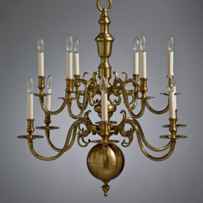 Chippendale Chandelier in Brass