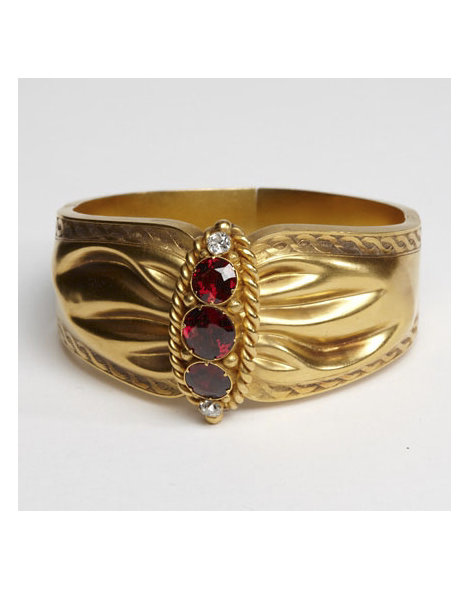 Citrine, Diamond, and Gold Bangle