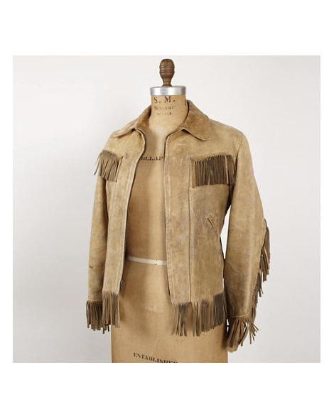 1960s Tan Fringe Leather Jacket