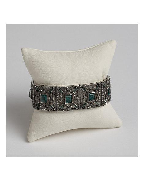 Sterling Silver and Paste Bracelet