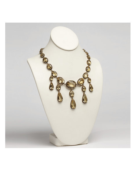 Silver Gilt and Citrine Riviere Necklace