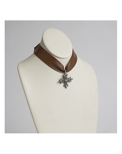 Diamond Cross Pendent Necklace