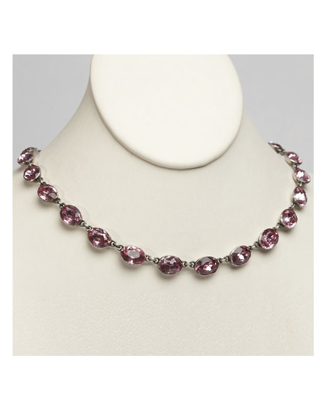 Pink Paste Riviere Necklace