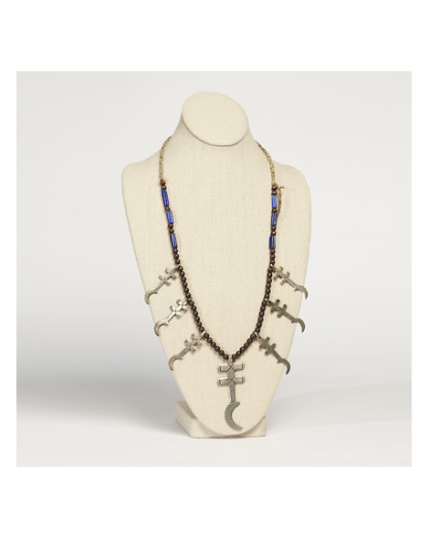 Pueblo Cross Necklace with Beads