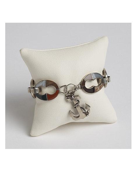 Sterling Silver and Scottish Agate Bracelet