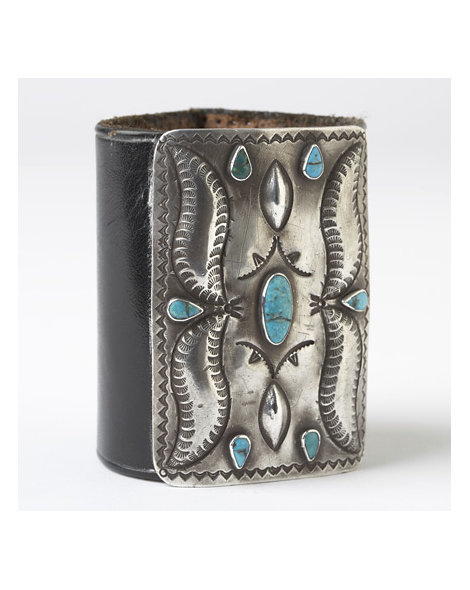 Navajo Silver and Turquoise Ketoh
