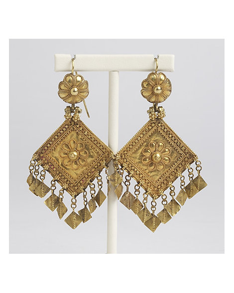 Ornate Gold Earrings