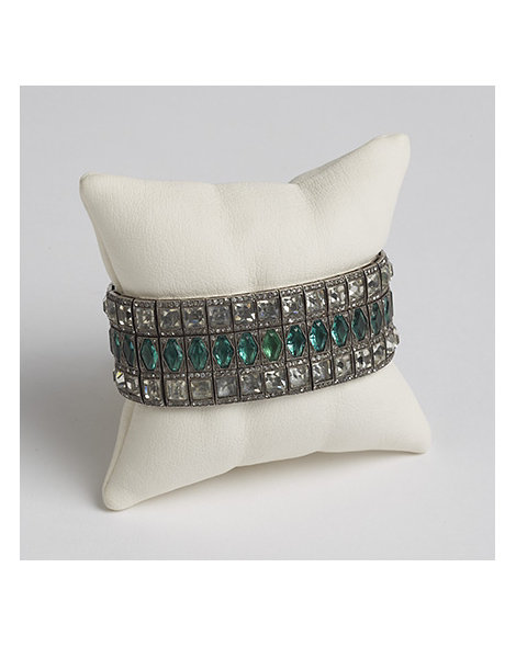 Art Deco Sterling Silver and Paste Bracelet