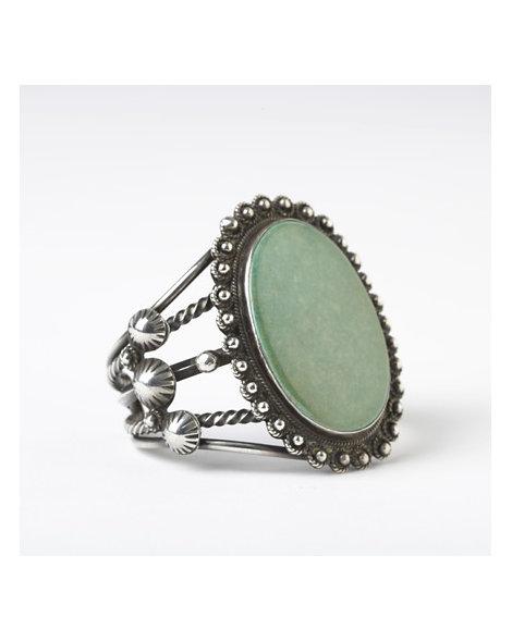 Large Oval Turquoise Bracelet
