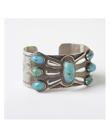 Turquoise Butterfly Concho Cuff
