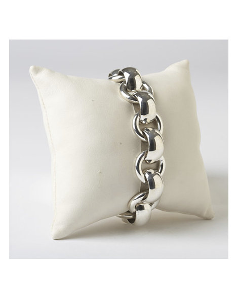 Contemporary Bench-Made Silver Link Bracelet