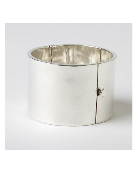 Contemporary Bench-Made Silver Bracelet