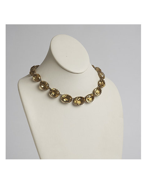 Gold and Citrine Riviere Necklace