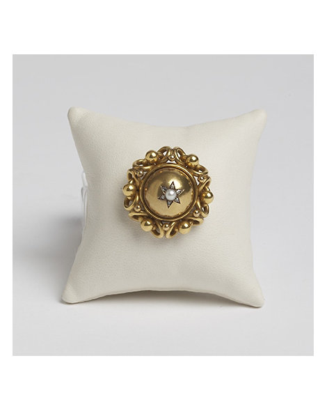 Gold, Pearl and Diamond Pin