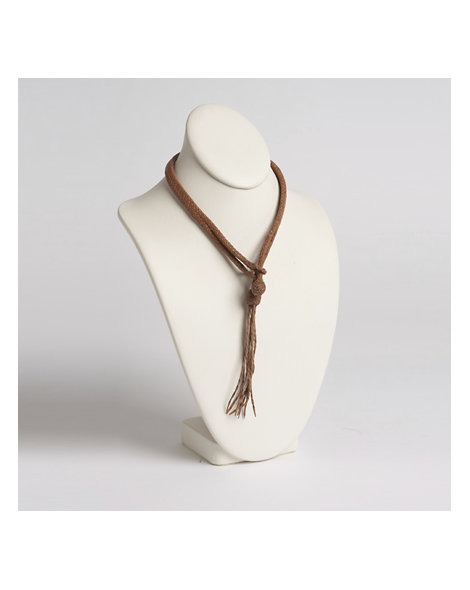 Contemporary Braided Leather Necklace