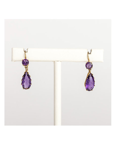 Amethyst tear-drop earrings