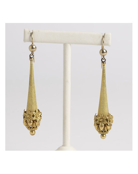 Georgian Pinchbeck Drop Earrings