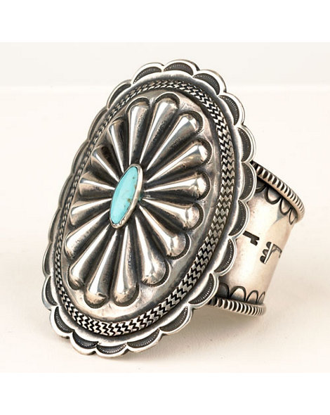 Concho Cuff with Turquoise