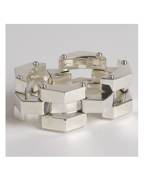 Contemporary Silver Link Bracelet