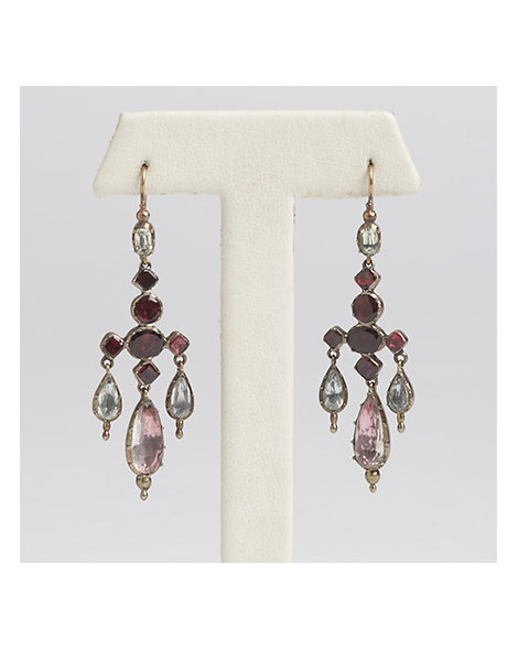 Multi-gem Pendent Earrings