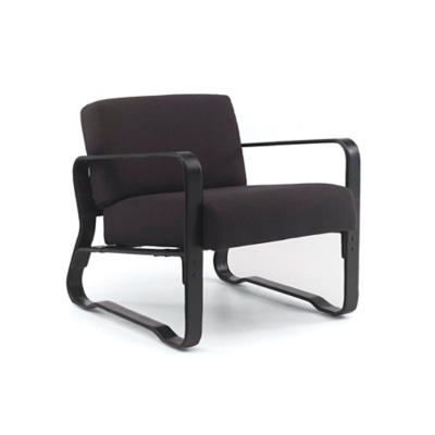 Cliff House Leather-Wrapped Lounge Chair - Black Harness