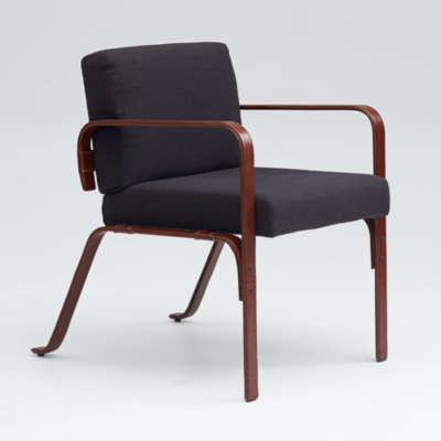 Cliff House Leather-Wrapped Desk Chair - Saddle