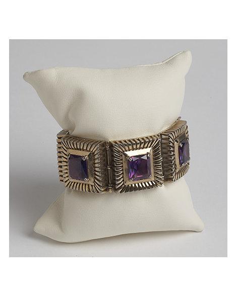 Silver Gilt and Paste Bracelet