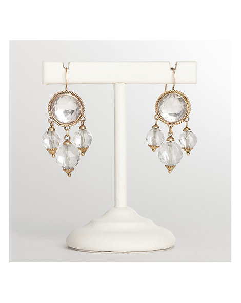 Rock crystal drop earrings
