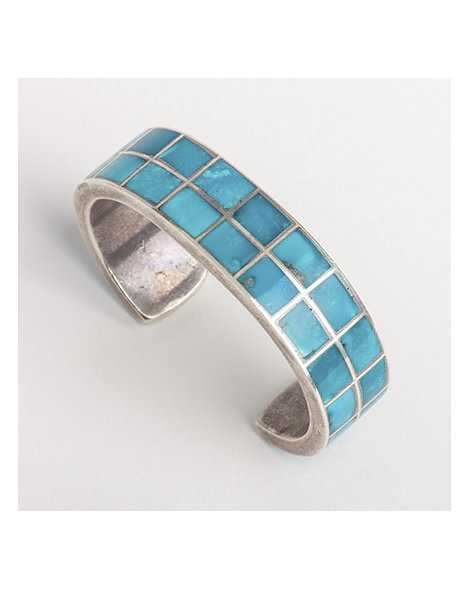 Morenci turquoise channel inlay bracelet