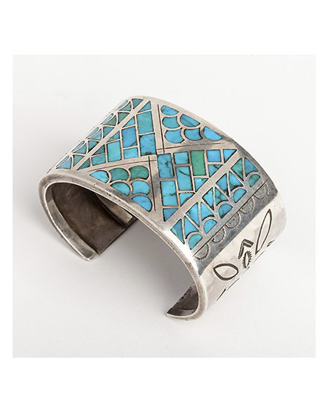 Zuni rain cloud channel inlay bracelet