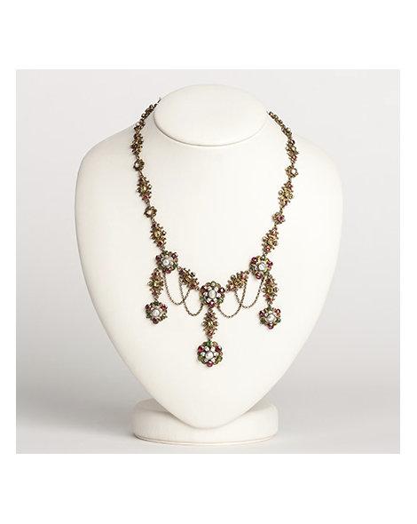 Austro-HUngarian multiple gem & pearl neckalce