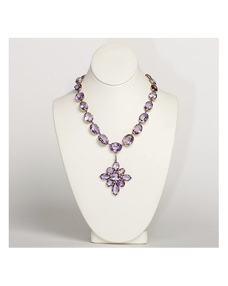 Amethyst riviere necklace & pendant