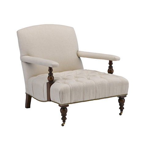 Oliver Chair With Tufted Seat Chairs Ottomans Furniture Products Ralph Lauren Home Ralphlaurenhome