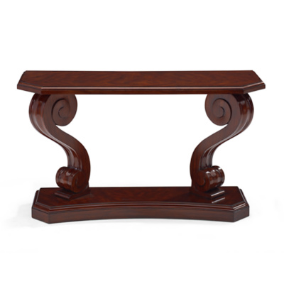 Mayfair Scroll Console - Classic Mahogany
