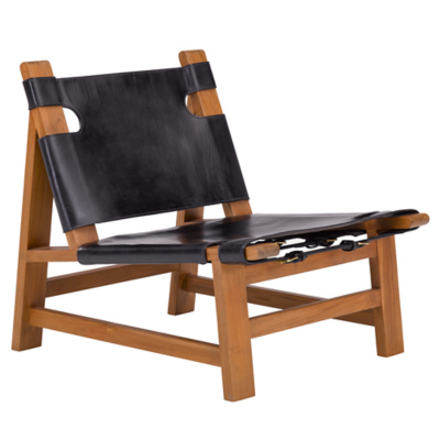 Sonora Canyon Sling Chair in Black Leather