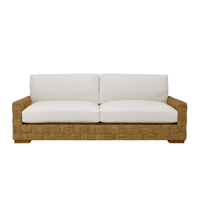 Black Palms Woven Sofa