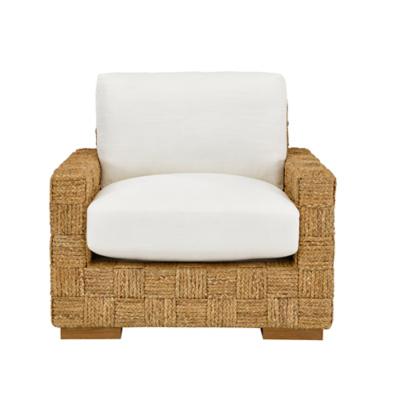 Black Palms Woven Chair
