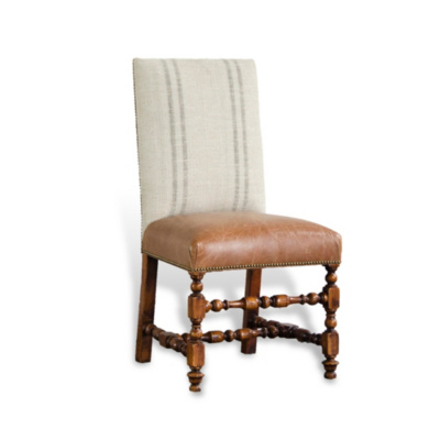 English Dining Chair - Antique Walnut Finish