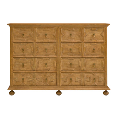 Jacobean Double Cabinet (Waxed Oak)