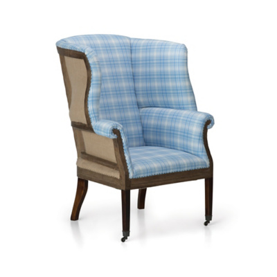 Hepplewhite Wing Chair, Deconstructed Back