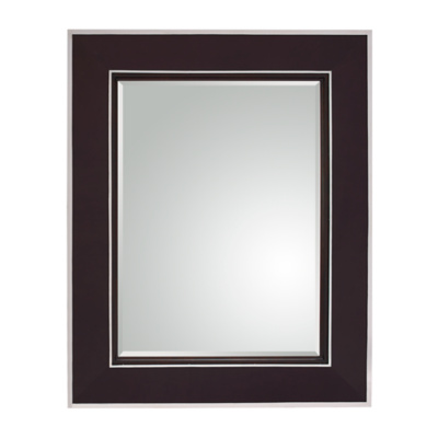 Randolph Mirror - Chocolate Leather