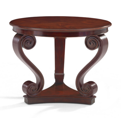 One Fifth Scroll End Table, Classic Mahogany