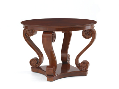 One Fifth Scroll Hall Table - Mahogany