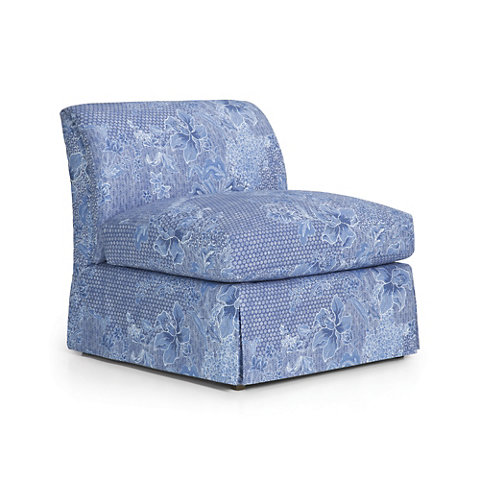 Atherton Skirted Slipper Chair   Chairs / Ottomans   Furniture   Products    Ralph Lauren Home   RalphLaurenHome.com