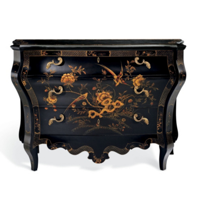 The Heiress Painted Bombé Chest