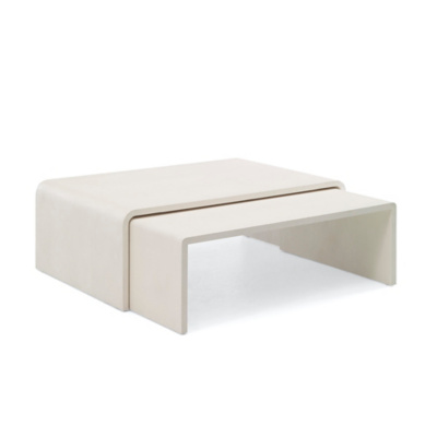 One Fifth Nesting Cocktail Tables - Cream Faux Shagreen