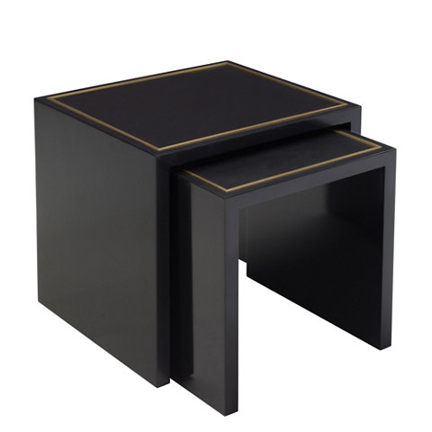 One Fifth Nesting End Tables, Black   Furniture   Products   Products   Ralph  Lauren Home   RalphLaurenHome.com